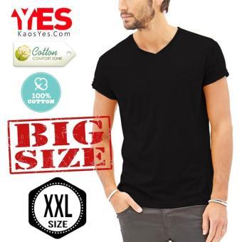Kaosyes Kaos Polos T-Shirt *BIG SIZE XXL* V-NECK LENGAN PENDEK