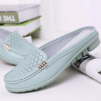 Kasual Ukuran Besar Non-slip Sepatu Wanita Sandal atau Sandal (277 Dangkal  Cahaya Bulan bed09549c4