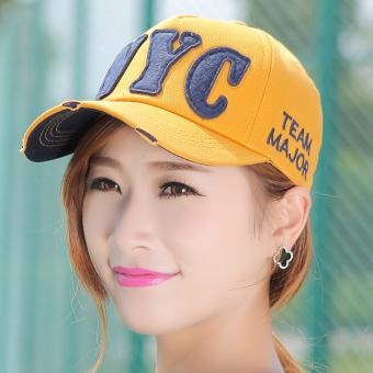 dbc1252d2d9dd Kebugaran Korea Fashion Style Pria Dan Wanita Musim Panas Topi Baseball  (Kuning (NYC)