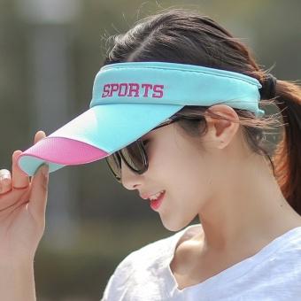 Topi Pelindung Sinar Matahari Luar Rumah Musim Panas Topi Matahari Topless  Tenis (Biru) 03b07c1d12