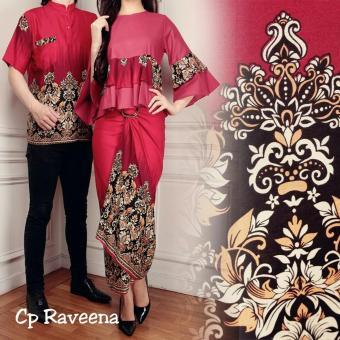 Kedai_baju Batik Pasangan / Batik Couple / Sepasang / Batik CP Raveena Merah