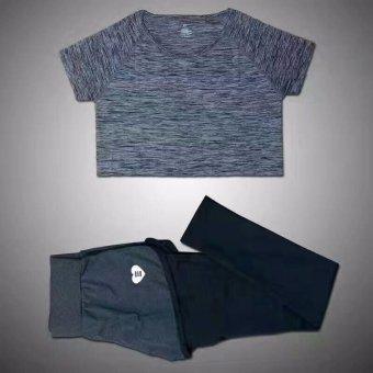 ... Latihan Legging Celana Pendek Olahraga. Source · Kelabu Perempuan Berlari Lari Olahraga Kebugaran Yoga Palsu Dua Potong Setelan Legging + T-shirt