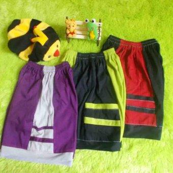 kembarshop - Set 3 Pcs Celana Pendek Kantong Anak Balita 2-4 Tahun