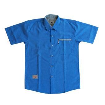 Kemeja & Co - kemeja lengan pendek - SSM70 - Biru