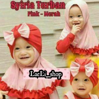 Kerudung Anak Bayi turban syiria / Jilbab Anak Bayi / Jilbab Bayi / Hijab Pashmina Instan