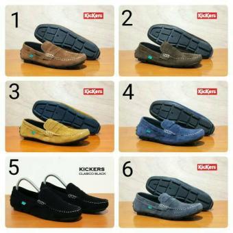 Kickers Slop Murah Sepatu Slip On Kulit Casual Pria Sepatu Santai Loafers 18e013a074