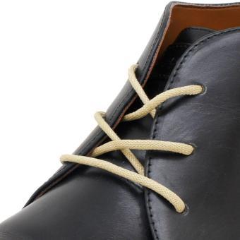 KipzKapz WS18 Beige 80cm - Tali Sepatu Lilin / Waxed Cotton Round Shoelace .