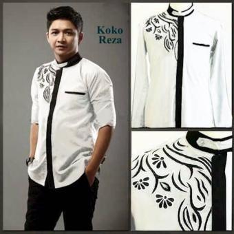 [ Koko Pasha Putih ] Baju Koko Pria Katun MFZ4 .