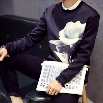 Korea Modis Gaya Baru Laki-laki Pada Baju Dalaman Musim Gugur Lengan Panjang Kaus (