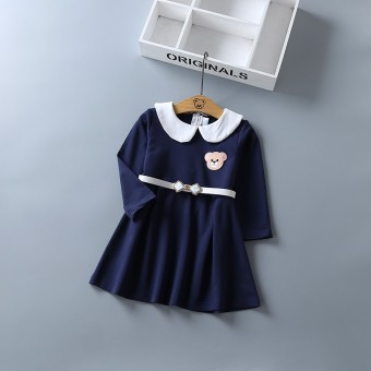 Korea Modis Gaya Katun Model Musim Semi atau Musim Gugur Gadis Rok Children Gaun (Beruang