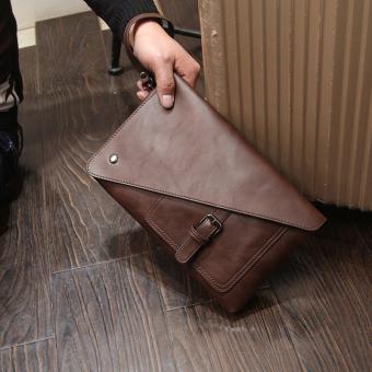 Korea Fashion Style Pria Tas Genggam Laki-laki Tas Tangan (Coklat gelap) c86b063846