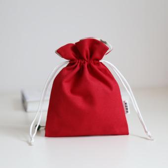 Korea Fashion Style Mini serut kain kecil dompet koin (Merah)