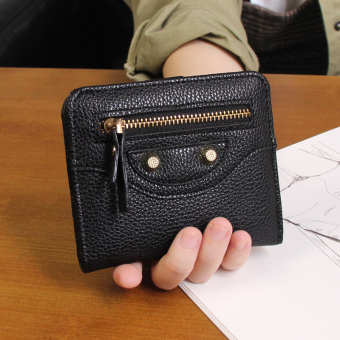 Korea Fashion Style perempuan bagian tipis siswa dompet wanita wanita kecil dompet (Hitam)