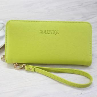Korea Fashion Style perempuan baru multifungsi dompet dompet kartu tas Clutch (Hijau amisike)
