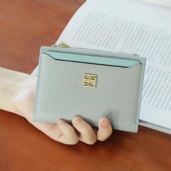 Dompet Kecil Korea Fashion Style Mini Dompet Wanita Baru (Abu-abu terang biru)