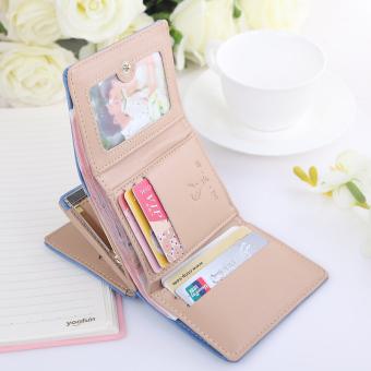 Korea Fashion Style perempuan Mini siswa wanita kecil dompet (PARK'S warna)