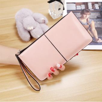 baru multifungsi ritsleting dompet clutch tas (Merah muda-9011 anak.
