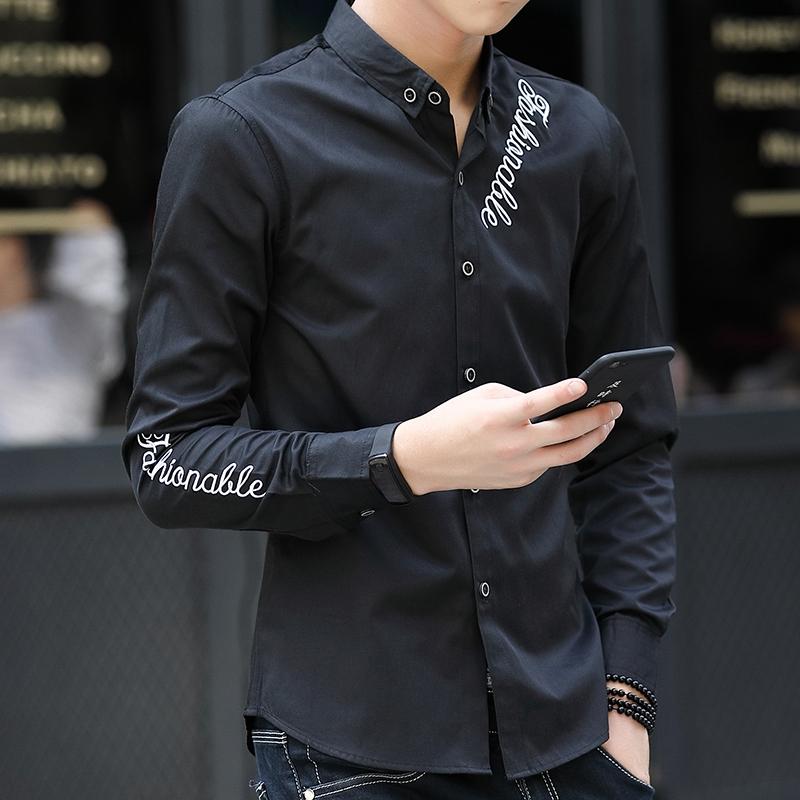 Perbandingan harga Korea Fashion Style Slim muda bisnis kemeja Source · Hot Deals Korea Modis Gaya Pria Ramping Remaja Kemeja Putih Lengan Panjang Kemeja ...