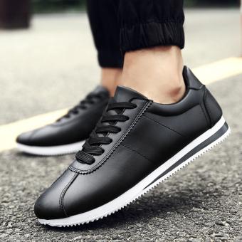Korea Modis Gaya Sepatu CORTEZ Nike Muda Kasual Sepatu Pria (H33 Hitam) d7d8237a31
