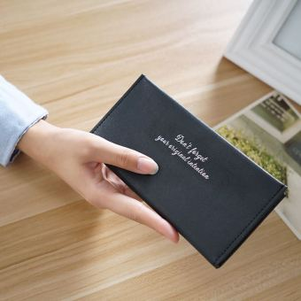 Korea Fashion Style soft lulur mahasiswa dompet kecil dompet (Hitam)