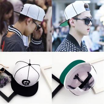 Korea Fashion Style Pelindung Terik Matahari Topi Topi (Putih Besar g)