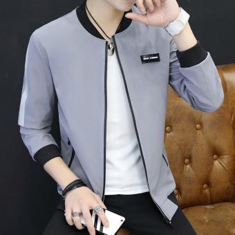 Pakaian Musim Semi dan Musim Gugur jaket pria Model Korea anak muda pria model tipis Warna