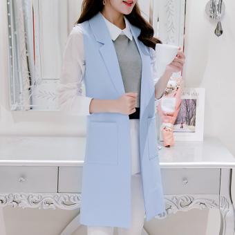 Rompi Wanita Model Sedang Tanpa Lengan Versi Korea (Langit biru) baju wanita jaket wanita