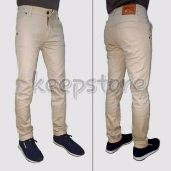 KS Celana chino pant panjang pria ( cream )