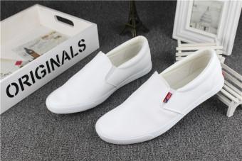 Kulit Hitam Di Musim Semi atau Musim Gugur Kasual Sepatu Pria Beberapa Sepatu (Putih)