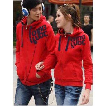 kyoko fashion jaket couple merah -(merah)