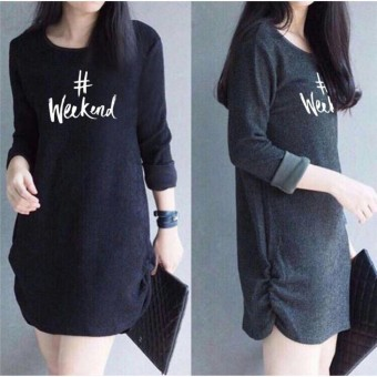 Labelledesign DONELLA PRINTED #WEEKEND - HITAM