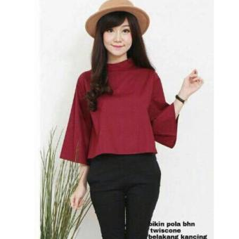 Labelledesign GAINE Blouse - Maroon