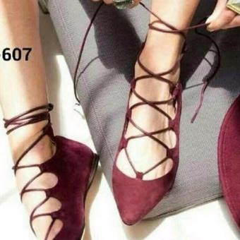 Labelledesign Sepatu Wanita Balerina Balet MAROON RED