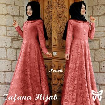 Ladies Fashion Baju Brukat Muslim / Gamis Mutiara / Hijab Wanita / Jilbab Syari Syar'