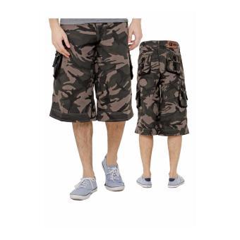 Lagenza New Arrival Men Pants Celana Pendek Loreng Cargo Distro Lgcb 301