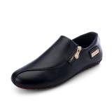 ... LALANG Fashion Pria Sepatu Kasual Kacang Polong Sepatu Loafers Sepatu  Mengemudi Hitam-Internasional - 5 3bdd4c6600