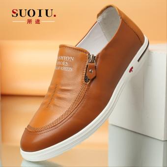 SUOTU yang cara model baru Lapisan pertama kulit sapi sepatu pria Kulit  asli casual bisnis formal ea3c087557