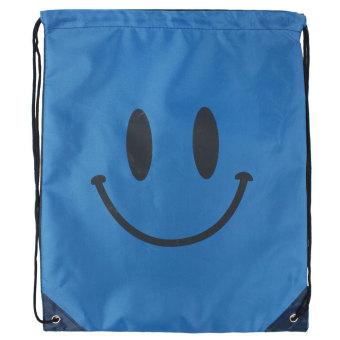Leegoal anak wajah senyum cetak Oxford tas serut biru tua - International