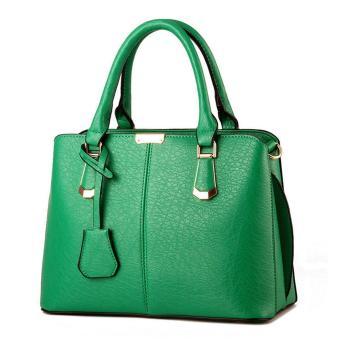 leegoal wanita butik tas bahu kulit PU atas pegangan tas jinjing, hijau - International