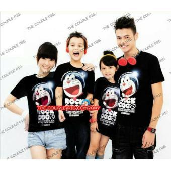 legiONshop-Kaos keluarga 2 anak/T-shirt family 2 kid-DORAMONMON ROCK