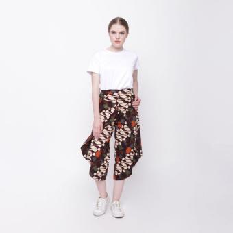 LEMONE Cullote Pants/ Celana Kulot Wanita/ Batik - Coklat