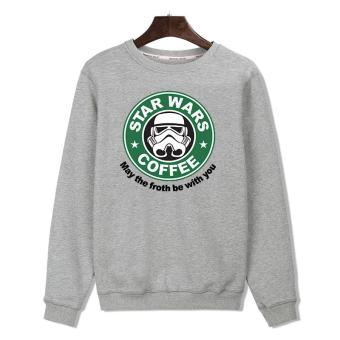 Live & Prosper Sweater Star Wars Coffee - Abu-Abu