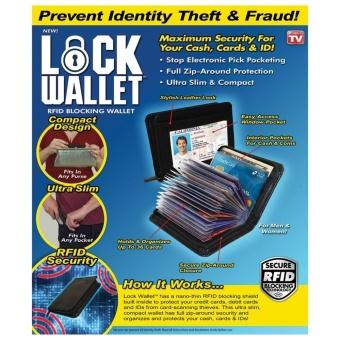 Lock Wallet Dompet Kartu Kredit Secure RFID Blocking ...
