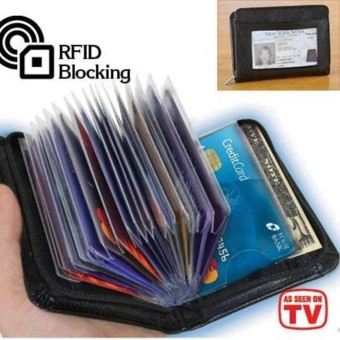 Lock Wallet Secure RFID Blocking Credit Card Purse Dompet Kartu Kredit