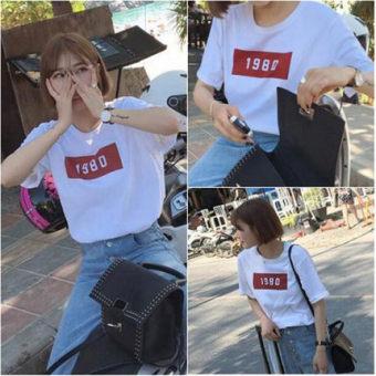 Kaos Korea Fashion Style Musim Panas Lengan Pendek Musim Semi