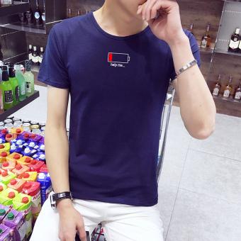 Longgar Korea Fashion Style Warna Solid Leher Bulat Yard Besar Baju Dalaman T-shirt (
