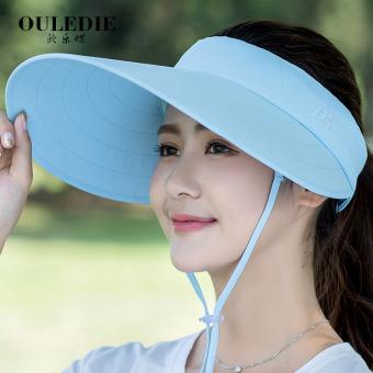 Luar Rumah Perempuan Anti Sinar Ultraviolet Musim Panas Topi Pantai Besar  Topi Lebar Matahari Topi ( 6db8522f0f