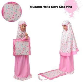 Madeena - Mukena Anak Karakter Hello Kitty Kiss Tas Sajadah - Pink .