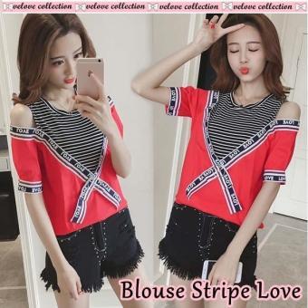 mamamia collection - blouse wanita stripe love