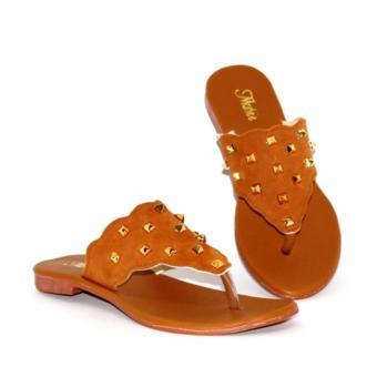 Marlee DN-23 Flip Flop Sandal Flat Wanita - Tan
